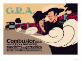G.R.A.: Smokeless and Odorless Automobiles Poster by Hans Rudi Erdt