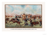 Custer Massacre at Big Horn, Montan June 25, 1876 Print by Arthur Wagner