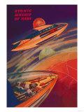 Atomic Airships of Mars Prints
