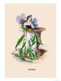 Pensee Print by J.J. Grandville