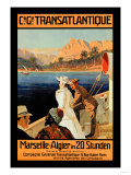 Marseille-Algiers Cruise Line Posters