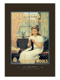 Beehive and White Heather Knitting Tools Posters