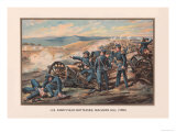U.S. Army, Field Batteries, Malvern Hill, 1862 Prints by Arthur Wagner