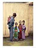 Woman with Children Prints by Felice Beato
