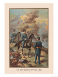U.S. Army Officers, 1835 Premium Giclee Print by Arthur Wagner