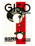 Giso Lamps Plakater af Wilhelm H. Gispen