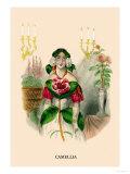 Camellia Poster by J.J. Grandville