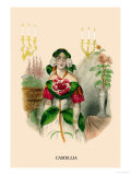 Camellia Print by J.J. Grandville