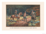 Comissioned Officer and Private of Cavalry, 1802-1810 Posters by Arthur Wagner