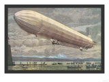 Zeppelin above Lake Constance Prints