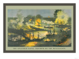 The Splendid Naval Triumph on the Mississippi Prints
