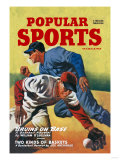 Popular Sports: Bruins on Base Affiches