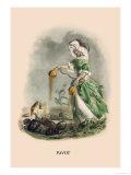 Pavot Print by J.J. Grandville