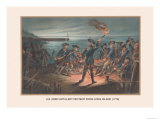 U.S. Army, Artillery Retreat from Long Island, 1776 Print by Arthur Wagner