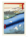 Cranes on the River Poster by Ando Hiroshige