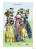 French Empire Dresses, 18th Century Poster by Richard Brown