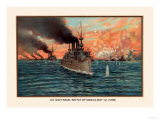 Naval Battle of Manil May 1st, 1898 Print by Werner