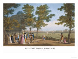 St. Stephen's Green, Dublin, 1796 Art by James Malton