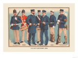 U.S. Navy Uniforms 1899 Art by  Werner
