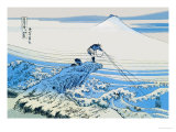 Fishing in the Surf Poster von Katsushika Hokusai