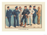 U.S. Navy Uniforms 1899 Posters av Werner