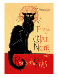 Tournee du Chat Noir Avec Rodolptte Salis Plakater af Thophile Alexandre Steinlen