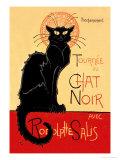 Tournee du Chat Noir Avec Rodolptte Salis Plakater av Théophile Alexandre Steinlen
