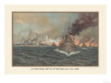 Naval Battle of Santiago, July 3rd, 1898 Prints by  Werner