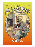 All Around Weekly: Wine and Cards Posters