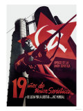 Nineteen Years of the Soviet Union and the Fight for Freedom and World Peace Posters by Josep Renau Montoro
