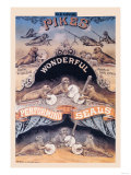 Pikes Wonderful Performing Seals Poster