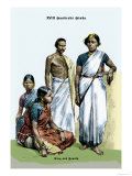 Hindu King and Family, 19th Century Prints by Richard Brown
