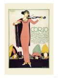 Violinist in a Pink Dress Poster