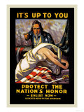 It's Up to You to Protect the Nation's Honor Premium Giclee Print by  Schneck