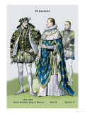 Anton Bourbon, King of Navarre, Carl IX, and Francis II, 16th Century Prints by Richard Brown