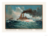 Battleship Texas, Battleship Iowa, and Torpedoboat Porter, 1899 Prints by  Werner
