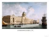 Custom House, Dublin, 1792 Prints by James Malton