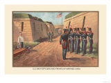 Officers and Private of the Marines, 1830 Prints by  Werner