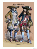 French Cavaliers, 18th Century Prints by Richard Brown