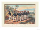 Lieutenant, Midshipman and Armed Seamen, 1830 Prints by  Werner