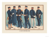 U.S. Navy Uniforms 1899 Print by Werner