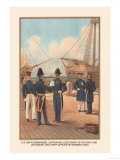 Commander, Captain and Lieutenant of the Navy Prints by  Werner