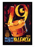 Fallas de San Jose Valencia Prints