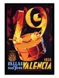 Fallas de San Jose Valencia Posters
