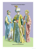 Turkish Noblemen and Sultan, 11th Century Art by Richard Brown