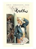 Puck Magazine: A Skeleton of His Own Print