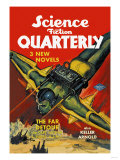 Science Fiction Quarterly: Rocket Man Attacks Posters