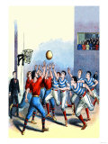Victorian Basketball Art