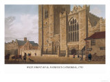 West Front of St. Patrick&#39;s Cathedral, 1793 Poster by James Malton