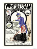 What's the Matter with Uncle Sam Art by K.b. Douglass